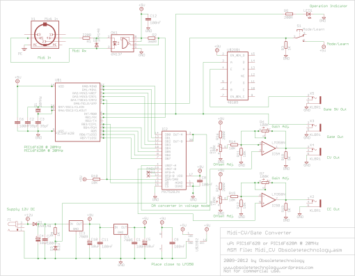 Midi/CV Gate Schematic