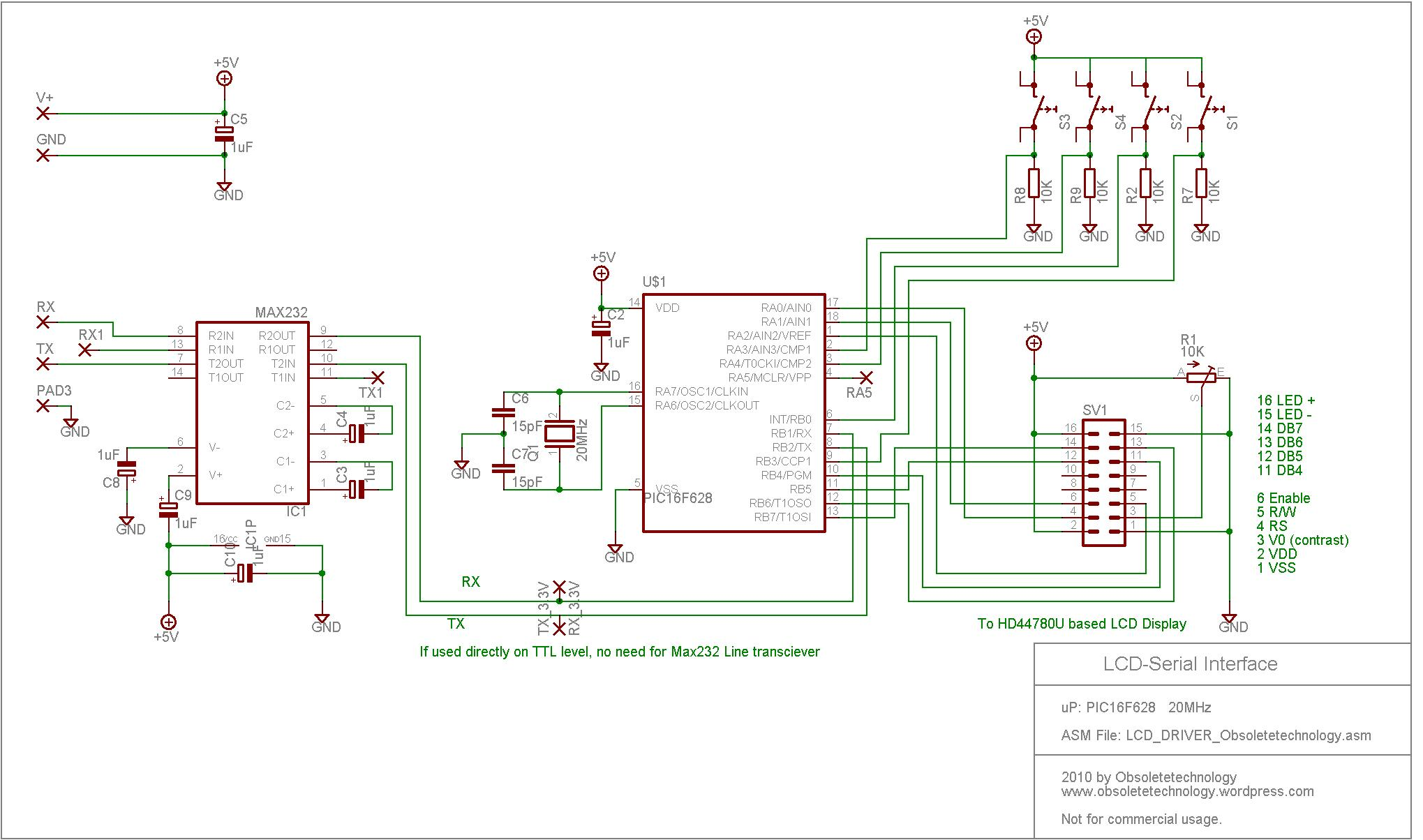 lcd_driver_obsoletetechnology rs232 lcd display driver obsoletetechnology lcd display wiring diagram at alyssarenee.co