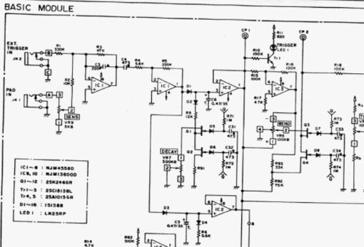 Tama TS305 trigger circuit