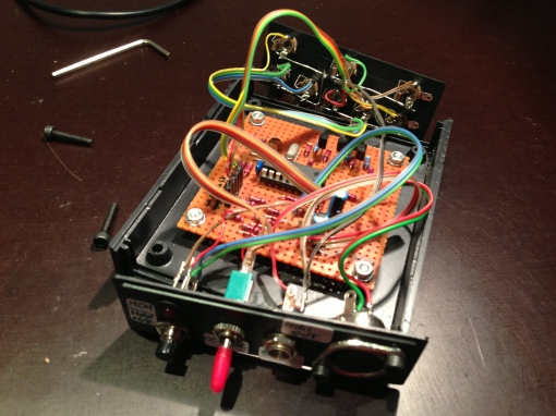 CV/Gate to Midi Prototype Wiring (Front)